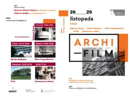 broszura z programem i opisami filmów on-line