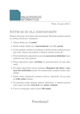 arkusz z I etapu - Malachoviacus Informaticus