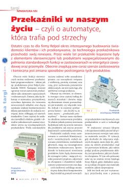 APA 03/2015 - Przekaźniki w naszym życiu – czyli o