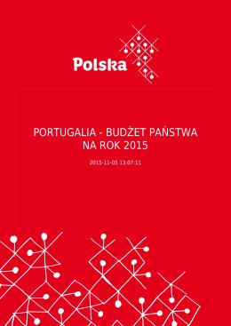 PORTUGALIA - BUDŻET PAŃSTWA NA ROK 2015