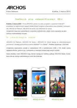 Archos_Large Screens_PR PL