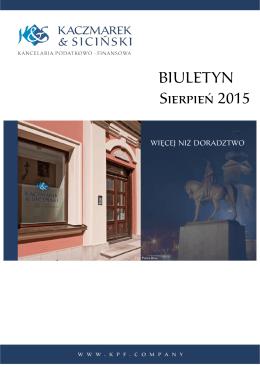 Biuletyn sierpień 2015