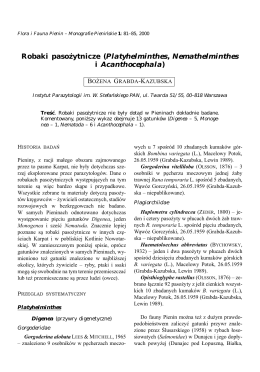 Grabda-Kazubska B. - Robaki pasożytnicze