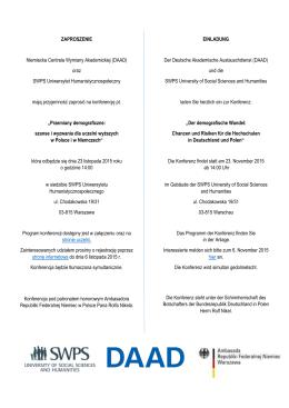 Szczegółowe informacje i program konferencj