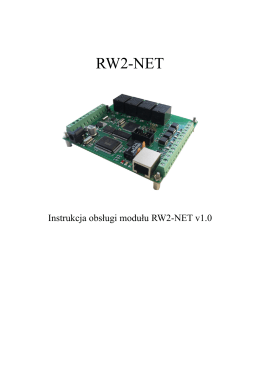 Instrukcja do RW2-NET wersja firmware