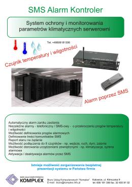 """SMS Alarm Kontroler - Biuro Usług Komputerowych""""Komplex"""""""
