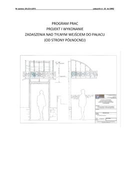 program prac projekt i wykonanie zadaszenia nad tylnym wejściem