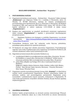 Załącznik nr 1 – Regulamin konkursu