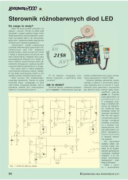 Sterownik różnobarwnych diod LED