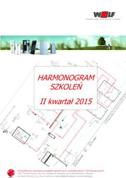 HARMONOGRAM SZKOLEŃ II kwartał 2015