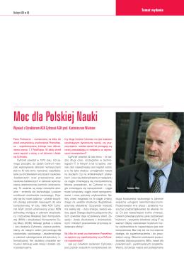 Moc dla Polskiej Nauki - Wywiad z Dyrektorem