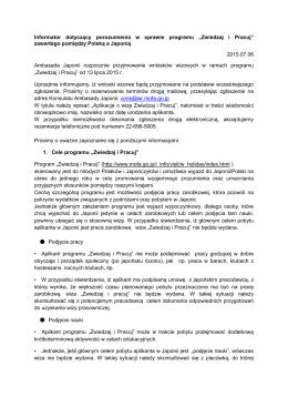 Zwiedzaj i Pracuj - Ambasada Japonii w Polsce