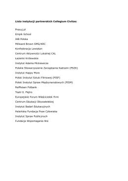 Lista instytucji partnerskich Collegium Civitas: Pracuj.pl Empik