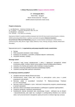3. Młoda Filharmonia AUKSO / Zagraj w orkiestrze AUKSO! 17 – 24