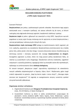 """Konkurs plastyczny """"Z OPEC ciepło i bezpiecznie"""" 2015"""