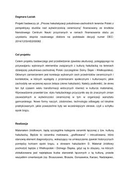 Proces halsztatyzacji południowo-zachodnich terenów Polski z