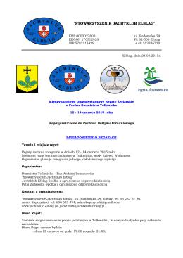 Zawiadomienie - Jachtklub Elbląg