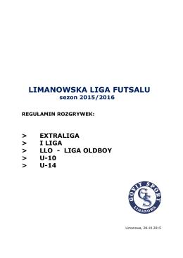 regulamin - Limanowska Liga Futsalu