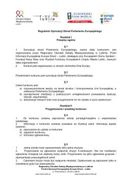 Regulamin Symulacji Obrad Parlamentu