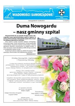 Duma Nowogardu – nasz gminny szpital