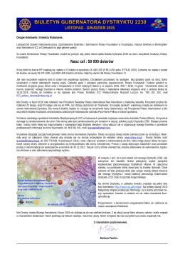 Nasz cel : 50 000 dolarów - Aktualności Rotary Club Wrocław