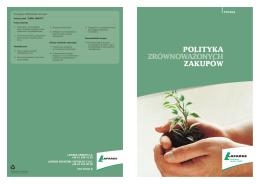 Polityka zrównoważonych zakupów