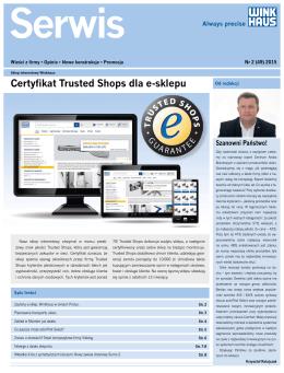 Certyfikat Trusted Shops dla e-sklepu
