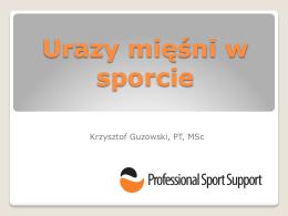 Urazy mięśni w sporcie - Professional Sport Support
