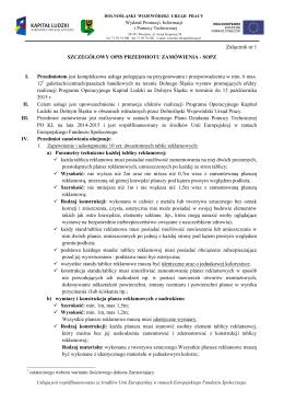SOPZ - Dolnośląski Wojewódzki Urząd Pracy