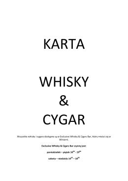Wszystkie whisky i cygara dostępne są w Exclusive
