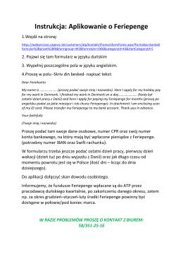 Instrukcja do kontaktu z Feriekonto