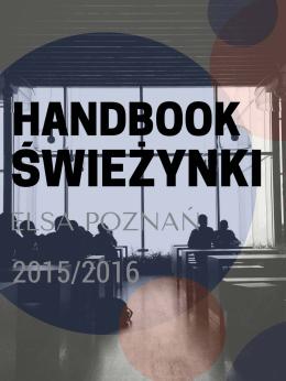 HANDBOOK ELSA POZNAN - ELSA Poznań