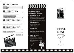 DRINK MENU - Columna Medica
