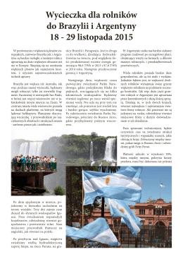 Wycieczka dla rolników do Brazylii i Argentyny 18