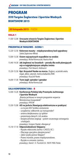 Program BoatShow - Polski Związek Krótkofalowców