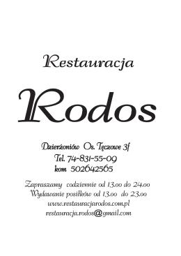 menu 2014 - Restauracja Rodos
