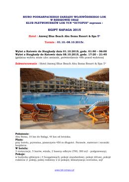 EGIPT SAFAGA 2015 - Klub Płetwonurków LOK TCN OCTOPUS w
