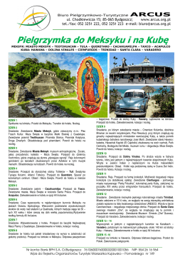Meksyk Kuba 2016 pielgrzymka