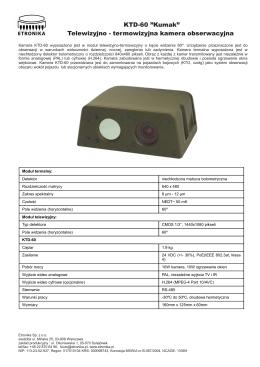 """KTD-60 """"Kumak"""" Telewizyjno - termowizyjna kamera"""