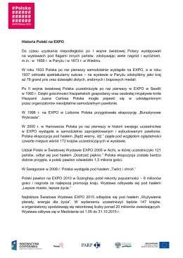 Historia Polski na EXPO Do czasu uzyskania
