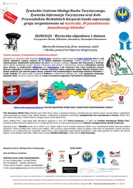 Słowacja - Martin, skansen w Wilkolinińcu, Rozomberk, termalne