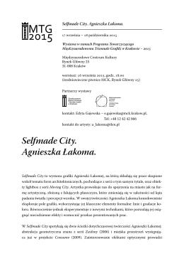 Selfmade City. Agnieszka Łakoma.