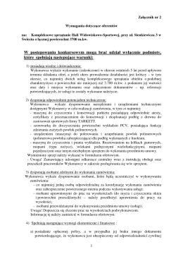 Wymagania dotyczące oferentów – załącznik nr 2