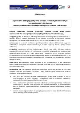 Oświadczenie Komitetu Kontaktowego z 2015 r.