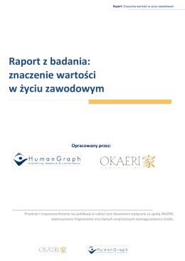 Raport z badania: znaczenie wartości w życiu zawodowym