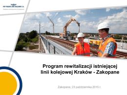 Program rewitalizacji istniejącej linii kolejowej Kraków