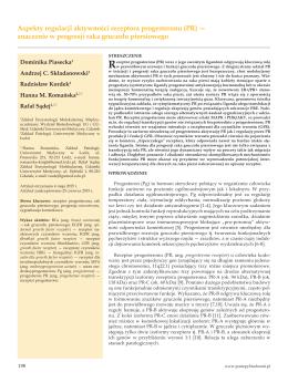(PR) — znaczenie w progresji raka gruczołu piersiowego