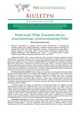 Znaczenie obrony przeciwlotniczej i przeciwrakietowej Polski