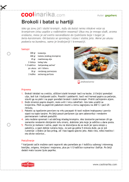 Brokoli i batat u hartiji