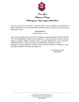 Rješenje br. 05-353/16-UPI-433 od 11.04.2016. godine
